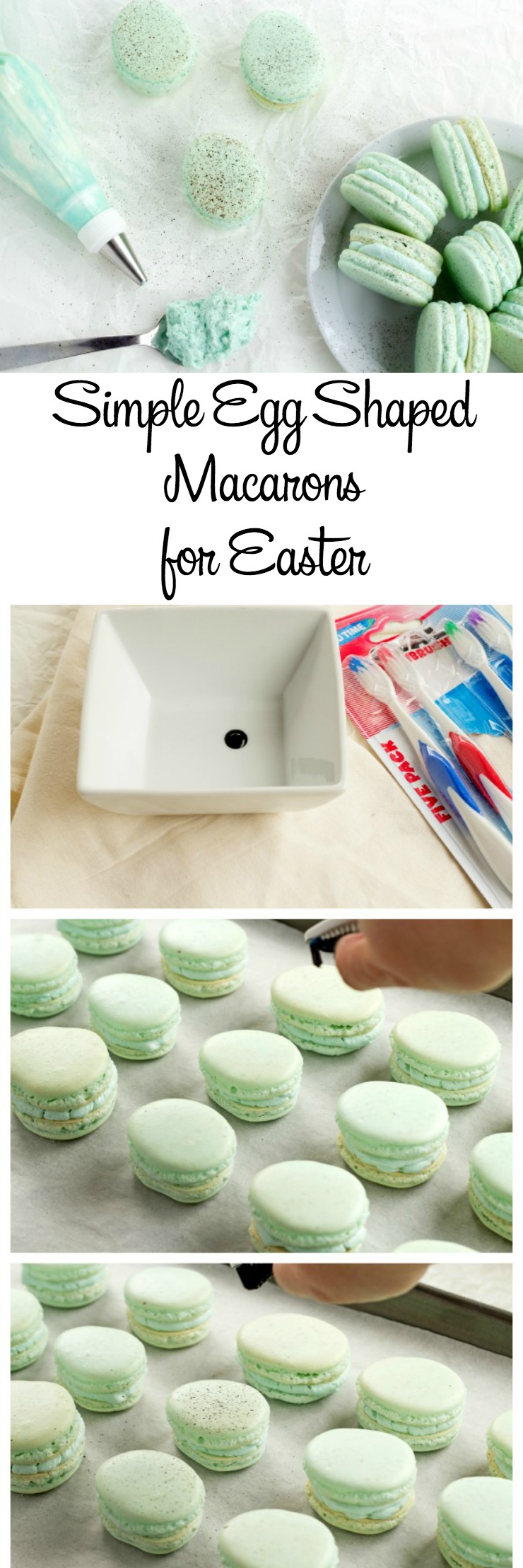 Simple Macarons for Easter | The Bearfoot Baker