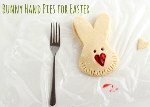 Step by Step Tutorial for Simple Cute Easter Bunny Hand Pies at www.thebearfootbaker.com