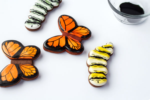 Easy Butterfly Cookies with Royal Icing- A Tutorial via thebearfootbaker.com