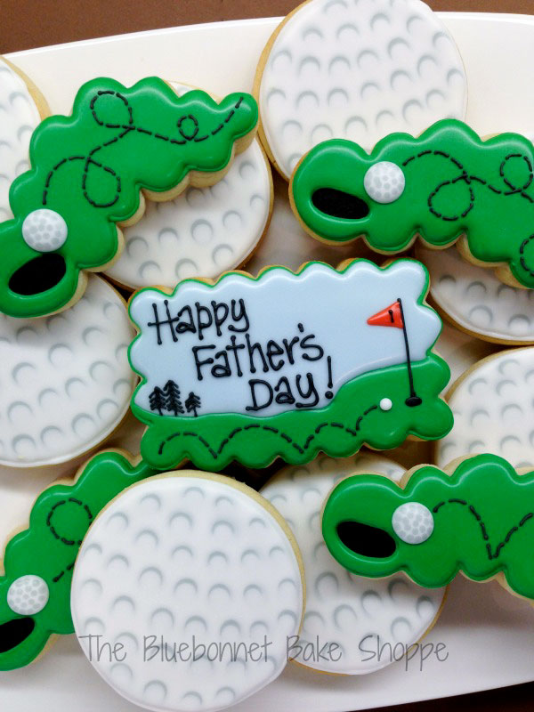 Father's-Day-Cookie-Ideas-Decorated-Golfball-Cookies-with-greens