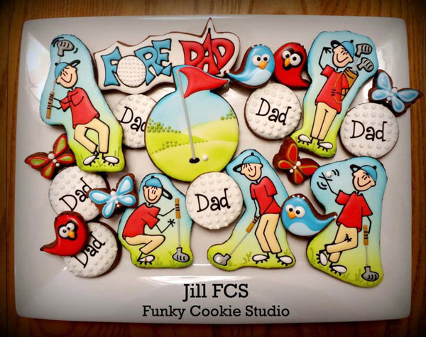 Father's-Day-Cookie-Ideas---'Fore'-Dad...Happy-Father's-Day!