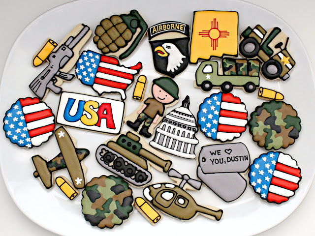 Father's Day Cookie Ideas - Military Cookies