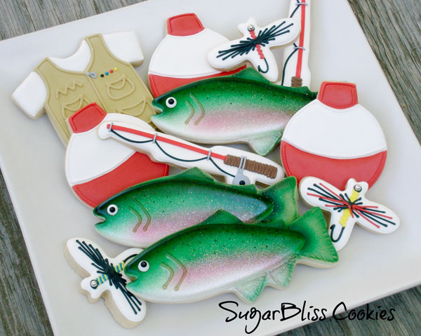 Father's-Day-Cookie-Ideas---Trout-and-Fishing-Cookies