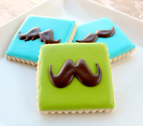 Father's Day Cookies Pinterest Cookie-d Mustache Cookies