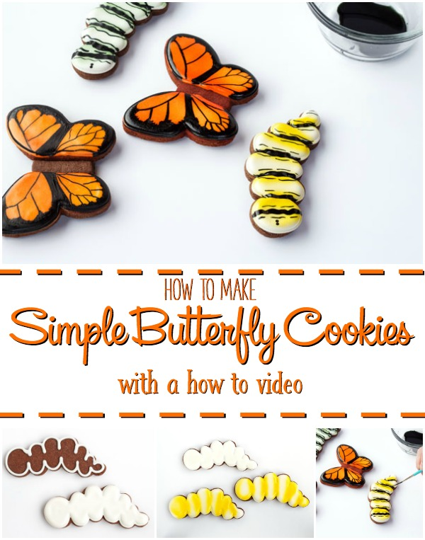 How to Make Easy Butterfly Cookies with a How to Video | The Bearfoot Baker