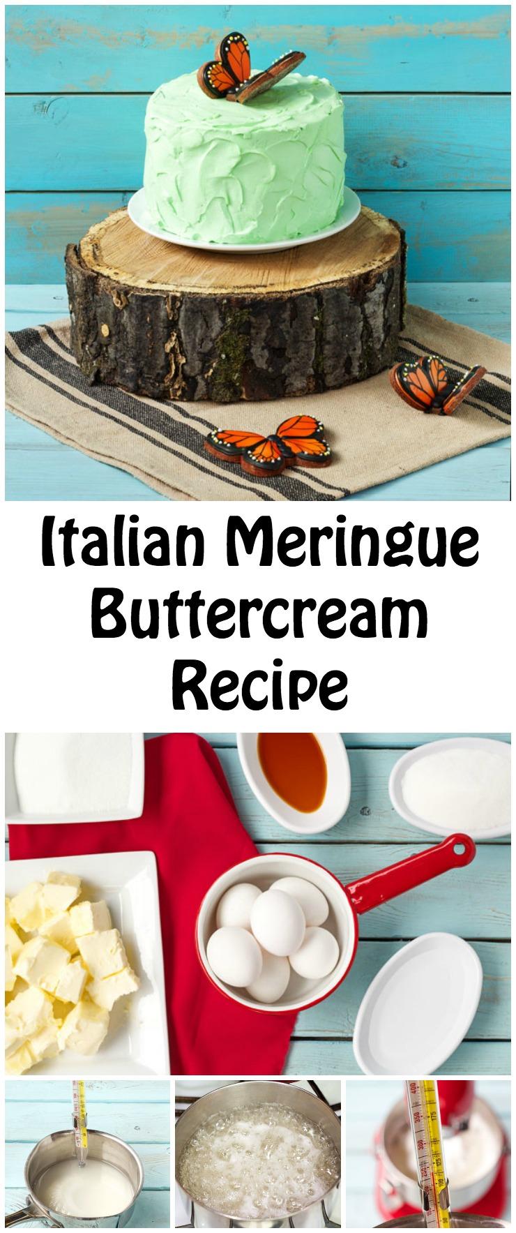 How to Make Italian Meringue Buttercream Recipe www.thebearfootbaker.com