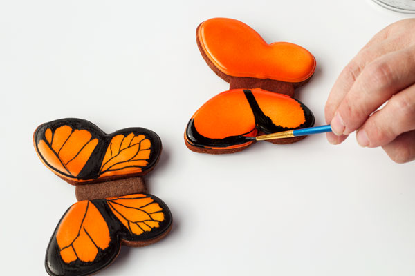 Simple Butterfly Cookies - Follow this simple step by step tutorial to learn how to make these cute butterfly cookies by www.thebearfootbaker.com