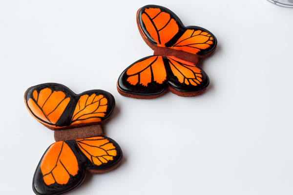 Simple butterfly cookies - step by step tutorial on how to decorate sugar cookies with royal icing with www.thebearfootbaker.com