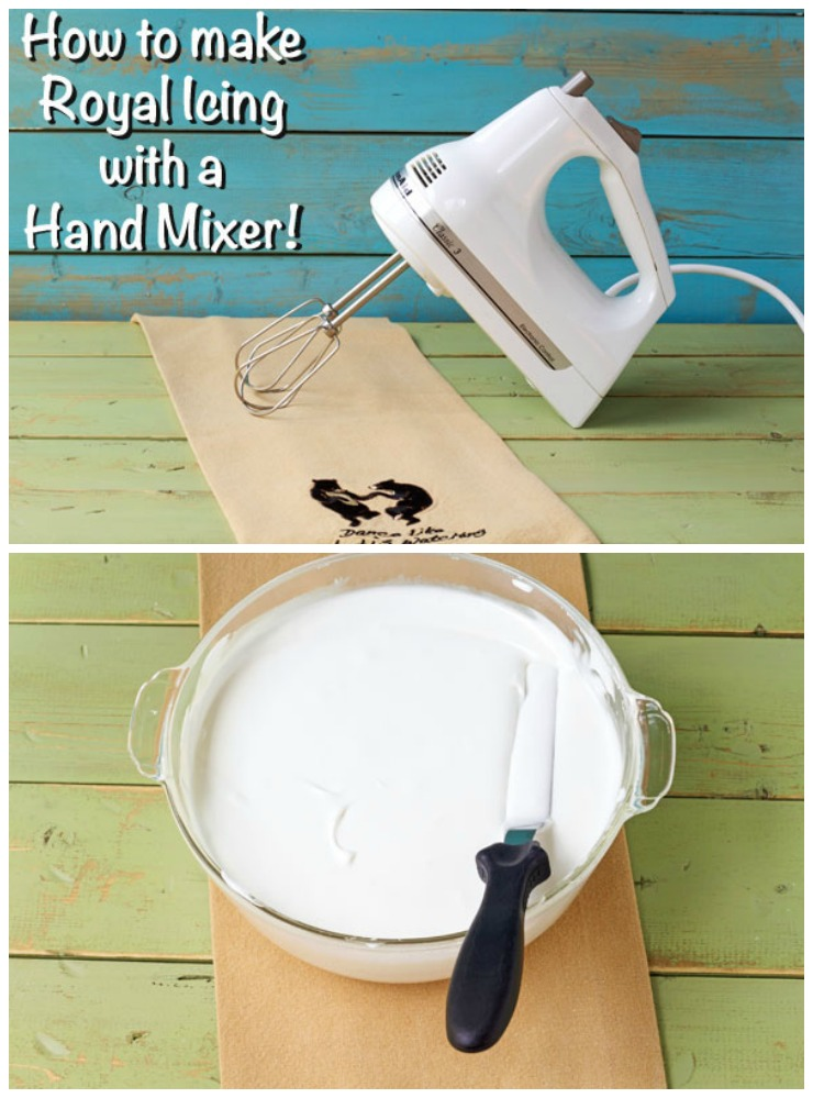 How to Make Royal Icing with a Hand Mixer with Video | The Bearfoot Baker