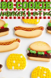 BBQ Cookies Hamburgers & Hot Dogs via thebearfootbaker.com