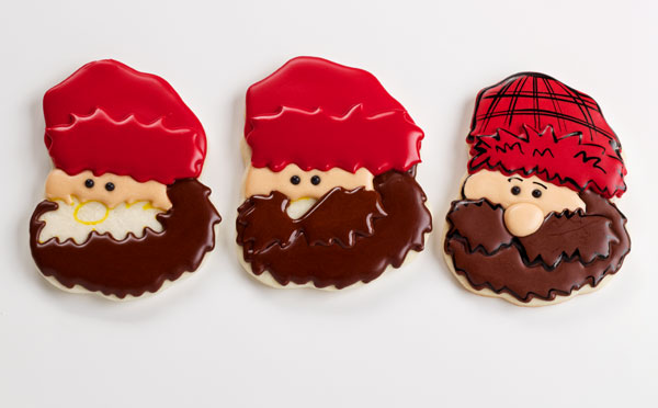 Easy Lumberjack Cookies - Sugar cookies decorated with royal icing via thebearfootbaker.com