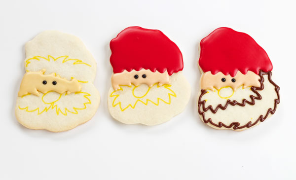 Easy Lumberjack Cookies - Sugar cookies decorated with royal icing via www.thebearfootbaker.com