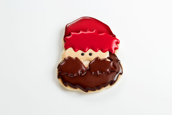 Easy Lumberjack Cookies - Sugar cookies decorated with royal icing with www.thebearfootbaker.com