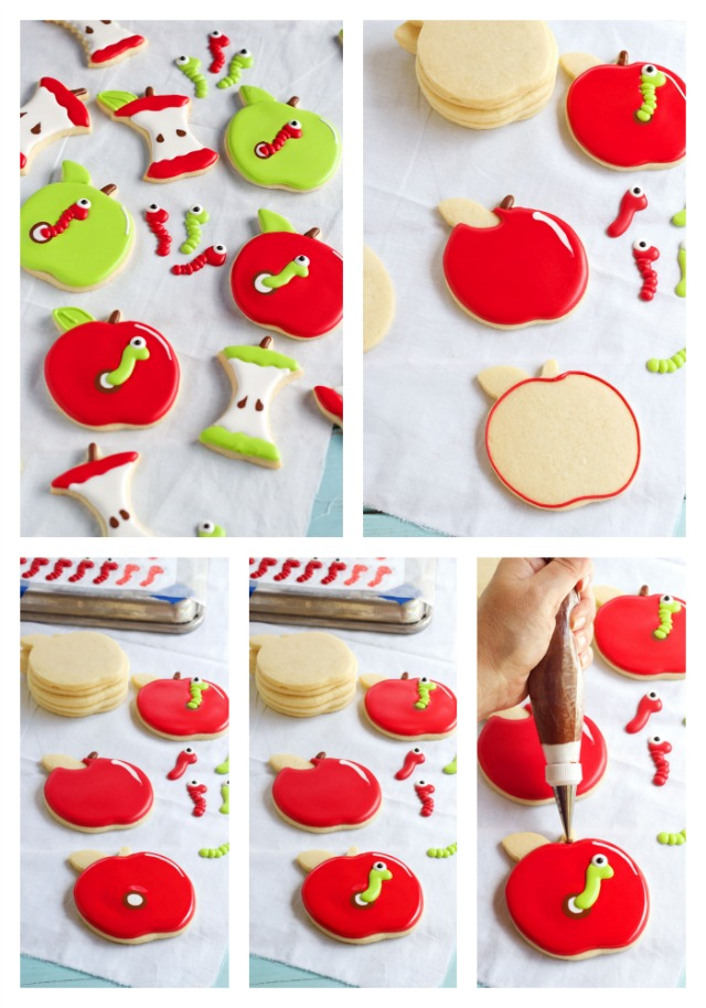 Easy Apple with Worm Cookies via www.thebearfootbaker.com