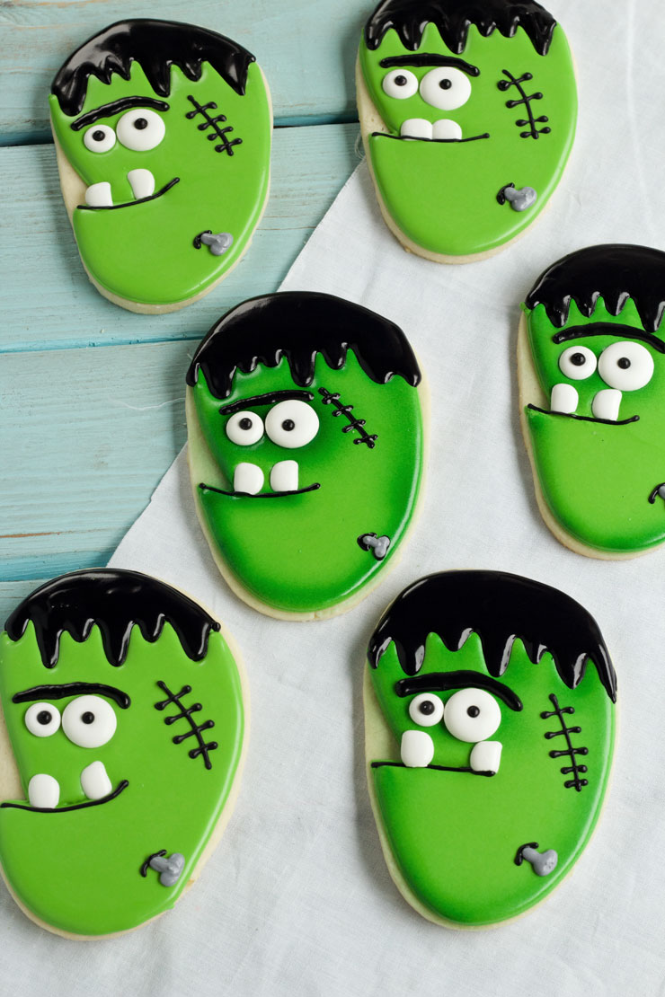 Frankenstein Face Cookies