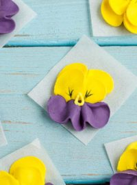 How to Make Royal Icing Pansies | The Bearfoot Baker