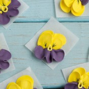 How to Make Royal Icing Pansies www.thebearfootbaker.com