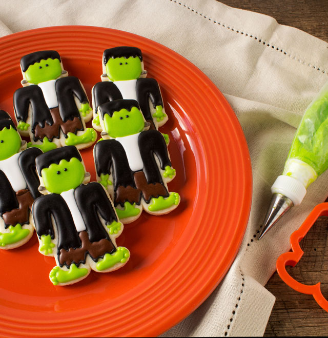Simple Frankenstein Cookies