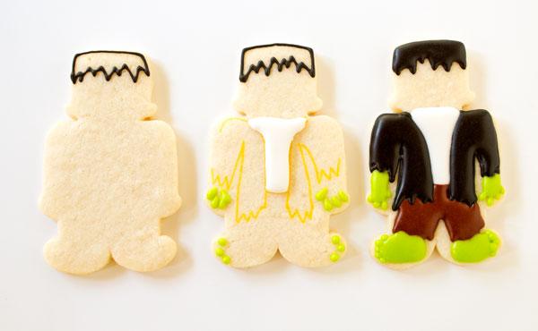 Simple Frankenstein Cookies www.thebearfootbaker.com