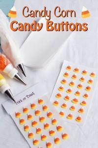 Candy Corn Candy Buttons -www.thebearfootbaker.com