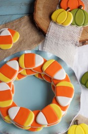 Simple Candy Corn Cookies