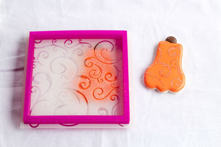 Decorated Pumpkin Cookies are Easy Sugar Cookies Decorated with Royal Icing www.thebearfootbaker