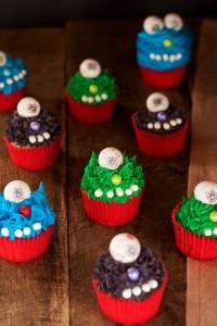 Monster Cupcakes for Halloween www.thebearfootbaker.com