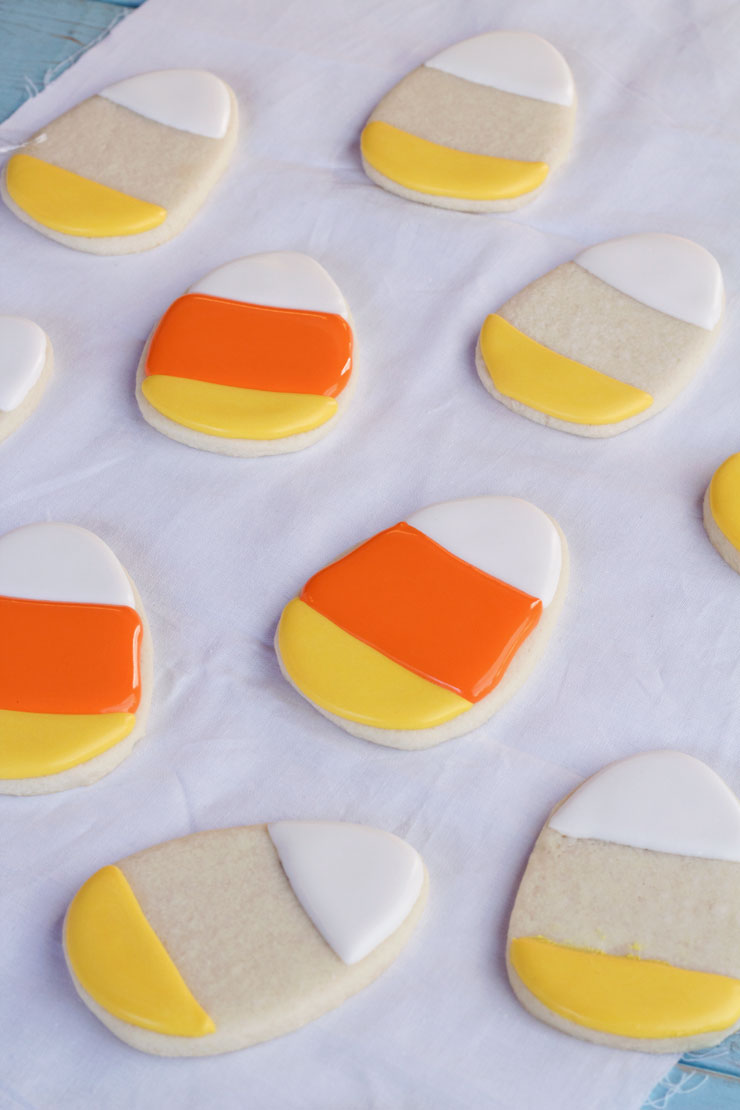 Simple Candy Corn Cookies via thebearfootbaker.com