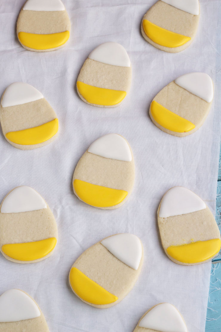 Simple Candy Corn Cookies www.thebearfootbaker.com