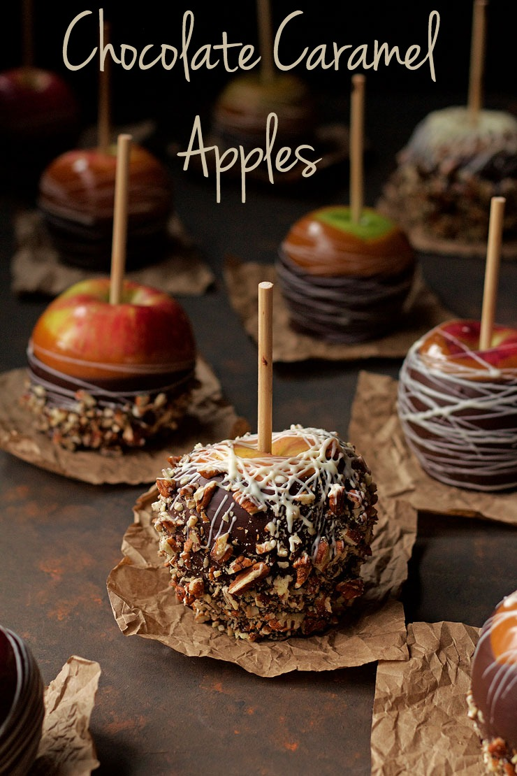 Chocolate Caramel Apples - Find out my secret for making the perfect apples every time www.thebearfootbaker.com