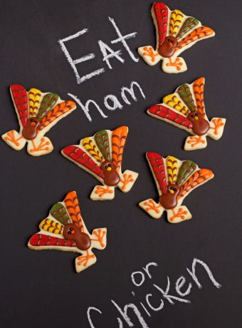 Cute Turkey Cookies via www.thebearfootbaker.com