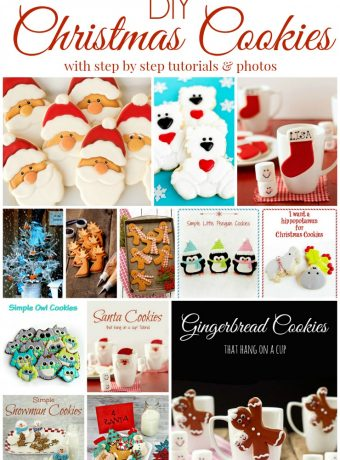 DIY Decorated Christmas Cookies with step by step tutorials and photos via www.thebearfootbaker.com