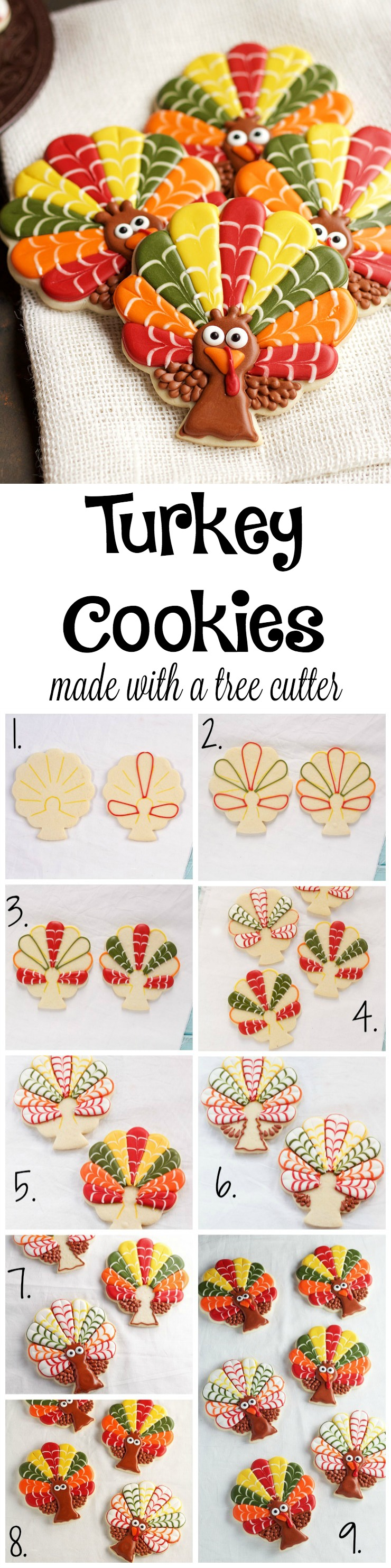 Decorated Turkey Cookies | The Beafoot Baker