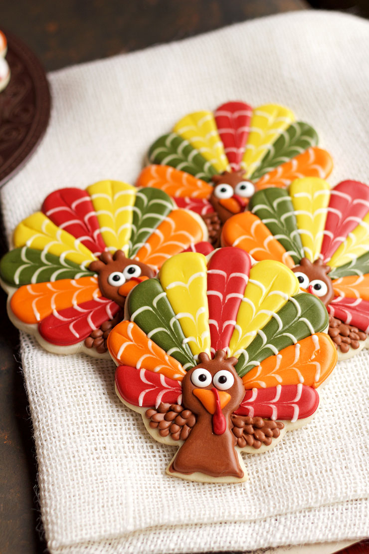 Decorated Turkey Cookies