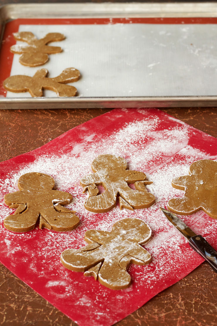 Fun Gingerbread Man Cookies - Use one Gingerbread Man Cookie Cutter and Trim the Sides to make Different Shaped Gingerbread Men. by www.thebearfootbaker.com