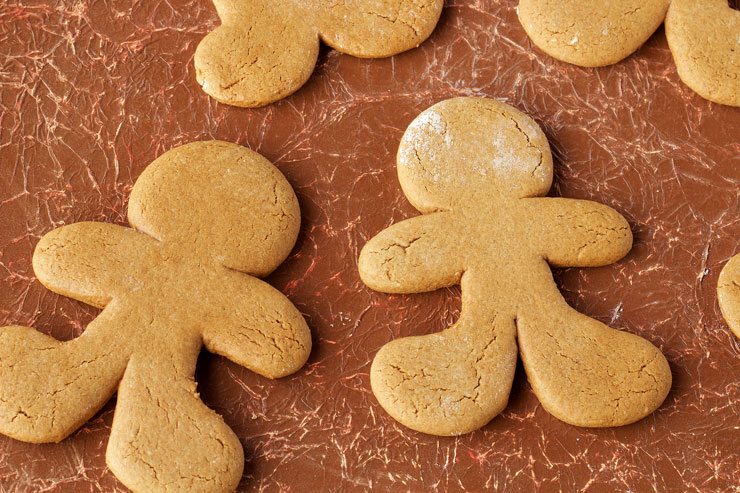 Fun Gingerbread Man Cookies - Use one Gingerbread Man Cookie Cutter and Trim the Sides to make Different Shaped Gingerbread Men. thebearfootbaker.com