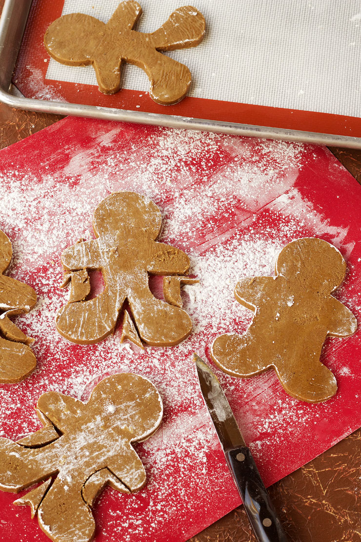 Fun Gingerbread Man Cookies - Use one Gingerbread Man Cookie Cutter and Trim the Sides to make Different Shaped Gingerbread Men. via www.thebearfootbaker.com