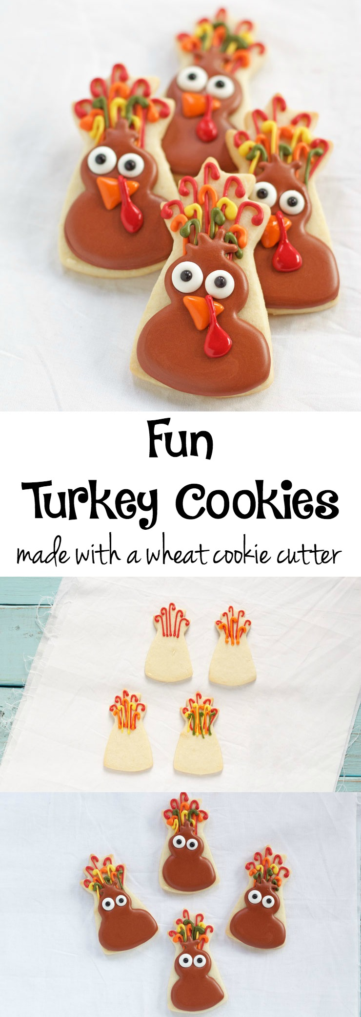 Fun Turkey Cookies | The Bearfoot Baker
