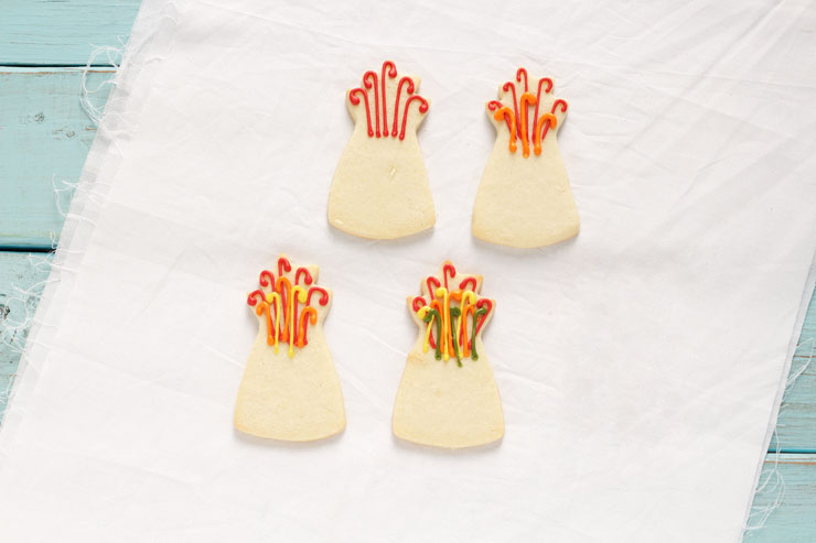 Fun Turkey Cookies are Sugar Cookies Decorated with Royal Icing www.thebearfootbaker.com