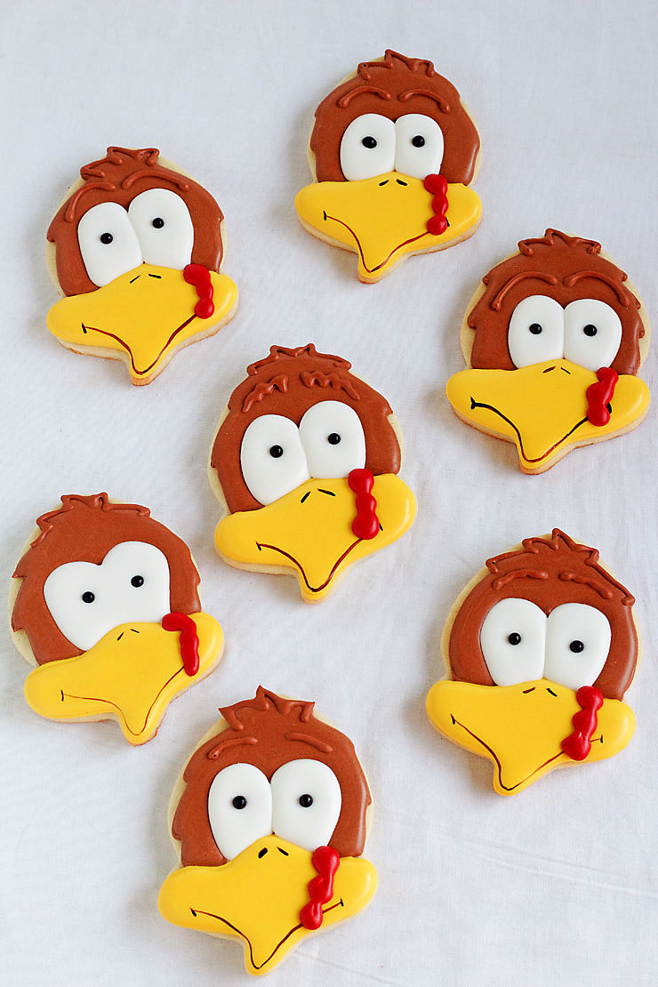 """Turkey-Cookies-with-an-Acorn-Cutter"""