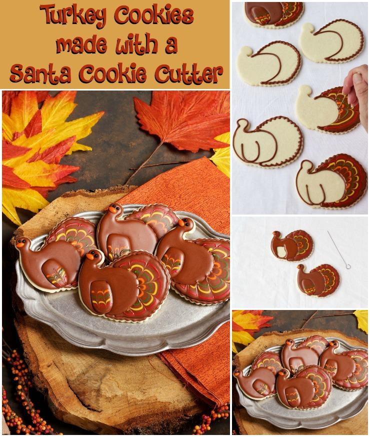 Pretty Turkey Cookies | The Bearfoot Baker