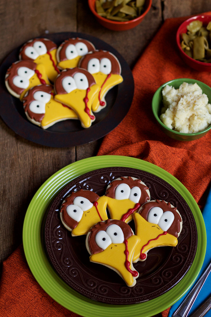 Turkey Face Cookies