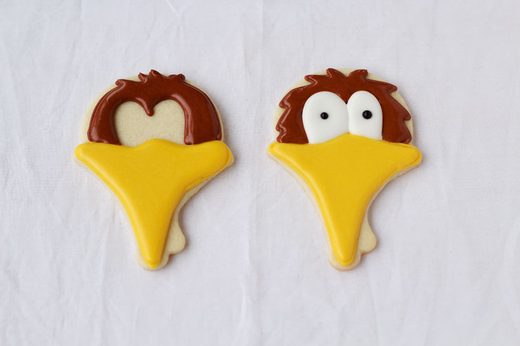 Turkey Face Cookies - Simple Sugar Cookies Decorated with Royal Icing www.thebearfootbaker.com