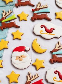 Easy Christmas Cookies for Santa - Sugar Cookies Decorated with Royal Icing- Simple cut out cookies to make for Santa this Christmas via thebearfootbaker.com