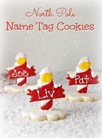 North Pole Cookies - Name Tags for Christmas via thebearfootbaker.com