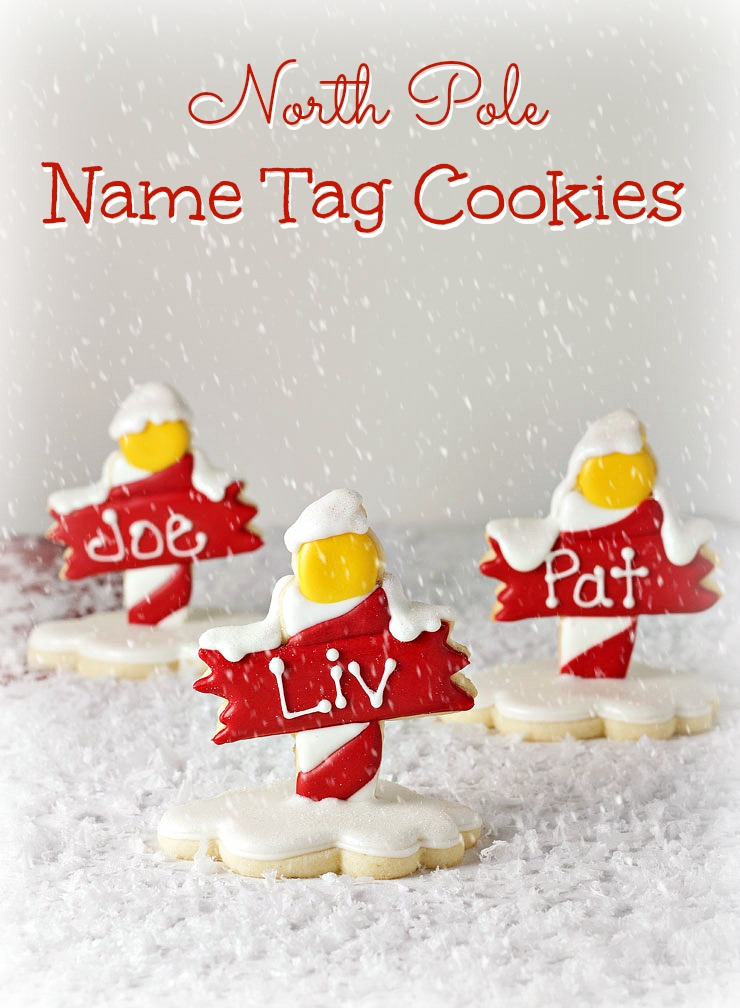 North Pole Cookies - Name Tags for Christmas