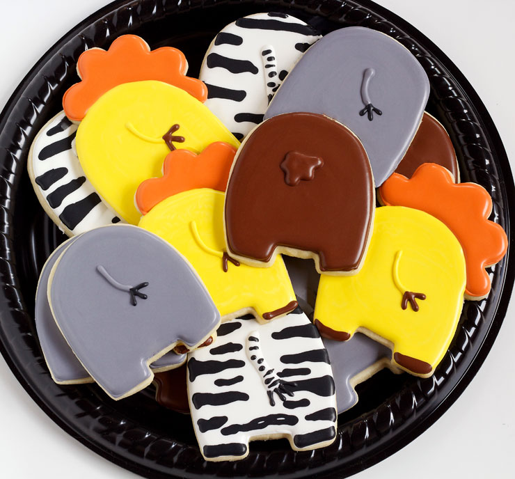 Simple Animal Cookies that can help you celebrate the New Year- The END is NEAR! Happy New Year! via www.thebearfootbaker.com