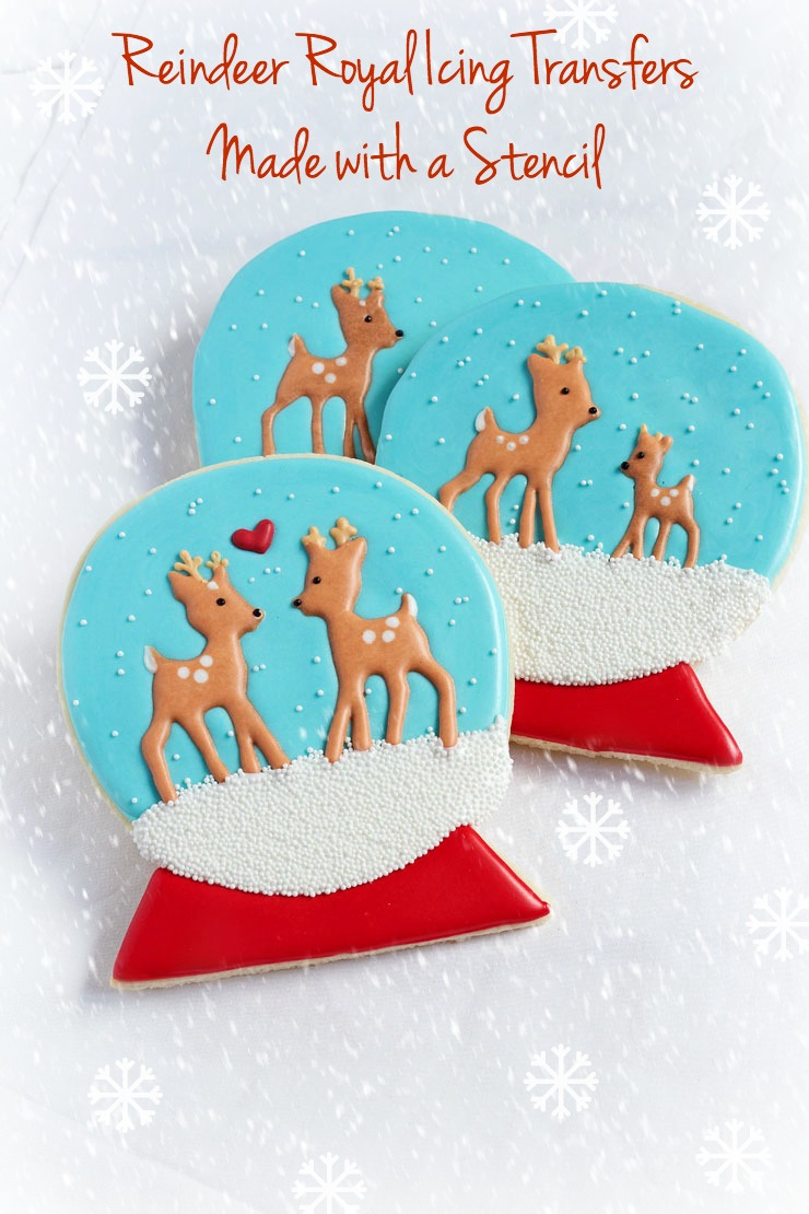 Simple Little Christmas Royal Icing Transfers - Simple Gingerbread Men and Reindeer Edible Candy for Cookie Decorating via www.t