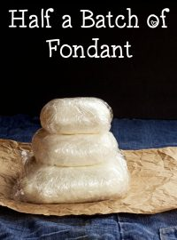 Easy Fondant Recipe- Want to make half a batch of Marshmallow Fondant? Here is the recipe you have been looking for www.thebearfootbaker.com