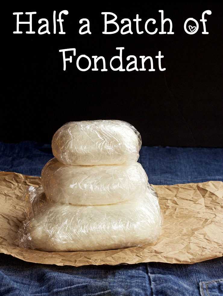 Easy Fondant Recipe-Half a Batch